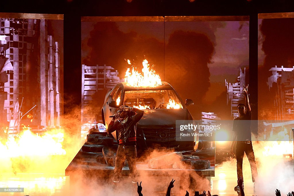 Recording artist Future performs onstage during the 2016 BET Awards at the Microsoft Theater on June 26, 2016 in Los Angeles, California.