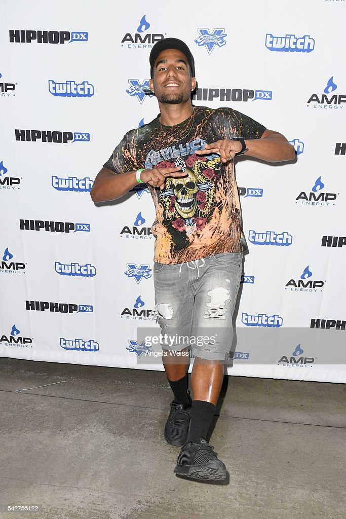 Recording artist Futuristic attends Next Level Presented By AMP Energy A Hip Hop Gaming Tournament at Rostrum Records on June 23 2016 in Los Angeles...