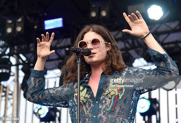 Recording artist Garrett Borns aka 'BORNS' performs onstage during the 2016 MTV Woodies/10 For 16 on March 16 2016 in Austin Texas