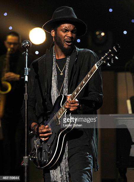 Recording artist Gary Clark Jr performs onstage during Stevie Wonder Songs In The Key Of Life An AllStar GRAMMY Salute at Nokia Theatre LA Live on...