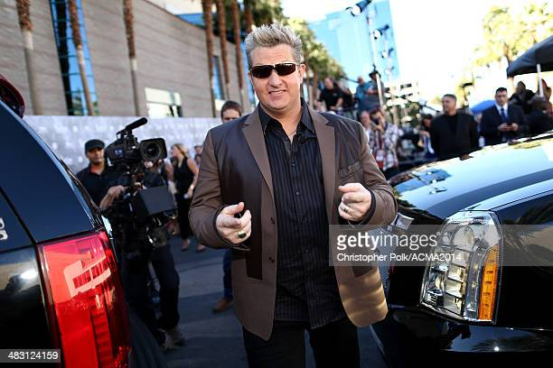 Recording artist Gary LeVox of Rascal Flatts attends the 49th Annual Academy of Country Music Awards at the MGM Grand Garden Arena on April 6 2014 in...