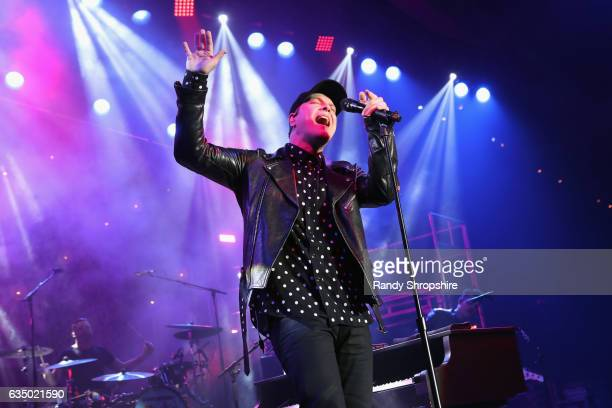 Recording artist Gavin DeGraw performs at the GRAMMY Celebration during the 59th GRAMMY Awards at Los Angeles Convention Center on February 12 2017...