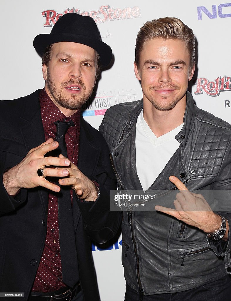 Recording artist Gavin McGraw (L) and TV personality <a gi-track='captionPersonalityLinkClicked' href=/galleries/search?phrase=Derek+Hough&family=editorial&specificpeople=4532214 ng-click='$event.stopPropagation()'>Derek Hough</a> attend Rolling Stone Magazine's 2012 American Music Awards (AMAs) VIP After Party presented by Nokia and Rdio at the Rolling Stone Restaurant and Lounge on November 18, 2012 in Los Angeles, California.