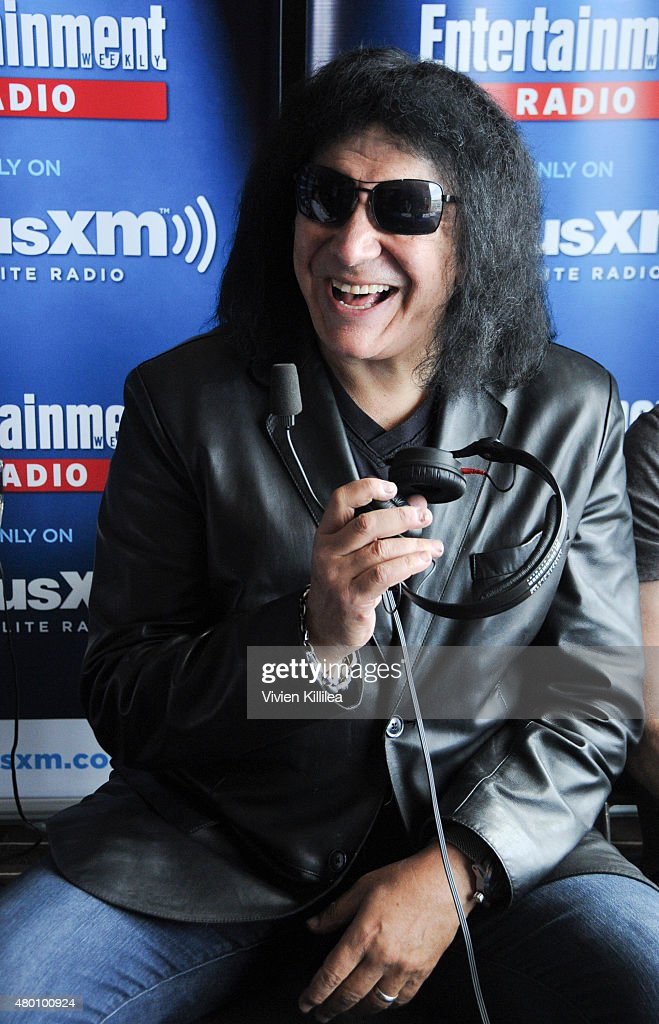 Recording artist <a gi-track='captionPersonalityLinkClicked' href=/galleries/search?phrase=Gene+Simmons&family=editorial&specificpeople=138593 ng-click='$event.stopPropagation()'>Gene Simmons</a> attends SiriusXM's Entertainment Weekly Radio Channel Broadcasts From Comic-Con 2015 at Hard Rock Hotel San Diego on July 9, 2015 in San Diego, California.