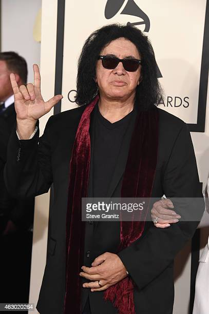 Recording artist Gene Simmons attends The 57th Annual GRAMMY Awards at the STAPLES Center on February 8 2015 in Los Angeles California