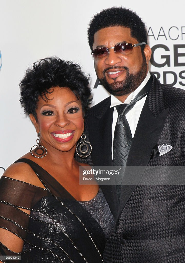 Recording artist Gladys Knight (L) and husband William McDowell attend the 44th NAACP Image Awards at the Shrine Auditorium on February 1, 2013 in Los Angeles, California.