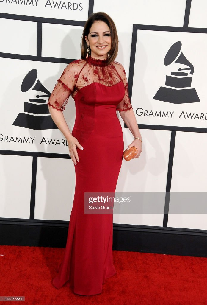 Recording artist Gloria Estefan attends the 56th GRAMMY Awards at Staples Center on January 26 2014 in Los Angeles California