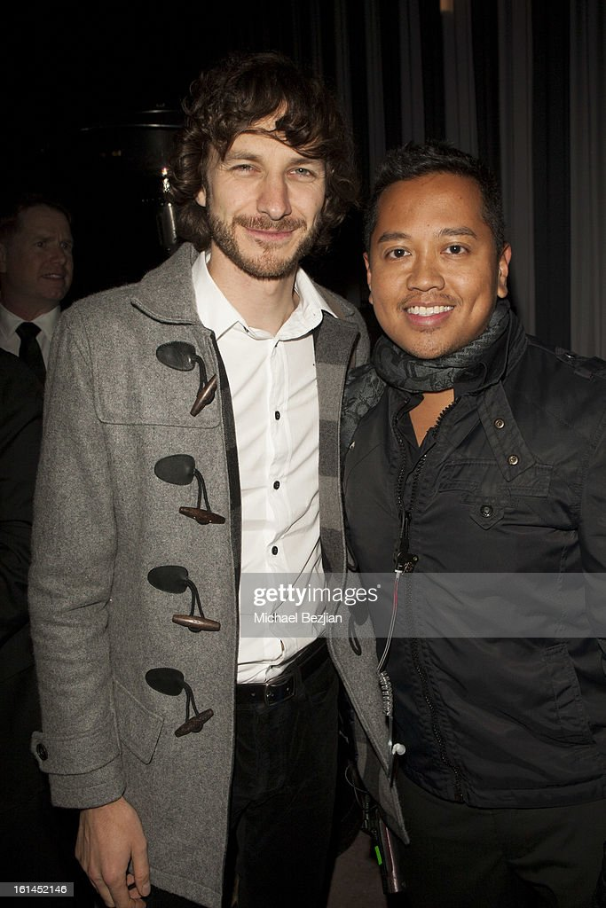 Recording Artist <a gi-track='captionPersonalityLinkClicked' href=/galleries/search?phrase=Gotye&family=editorial&specificpeople=4056440 ng-click='$event.stopPropagation()'>Gotye</a> and <a gi-track='captionPersonalityLinkClicked' href=/galleries/search?phrase=Rembrandt+Flores&family=editorial&specificpeople=693163 ng-click='$event.stopPropagation()'>Rembrandt Flores</a> attend Republic Records Post Grammy Party at The Emerson Theatre on February 10, 2013 in Hollywood, California.