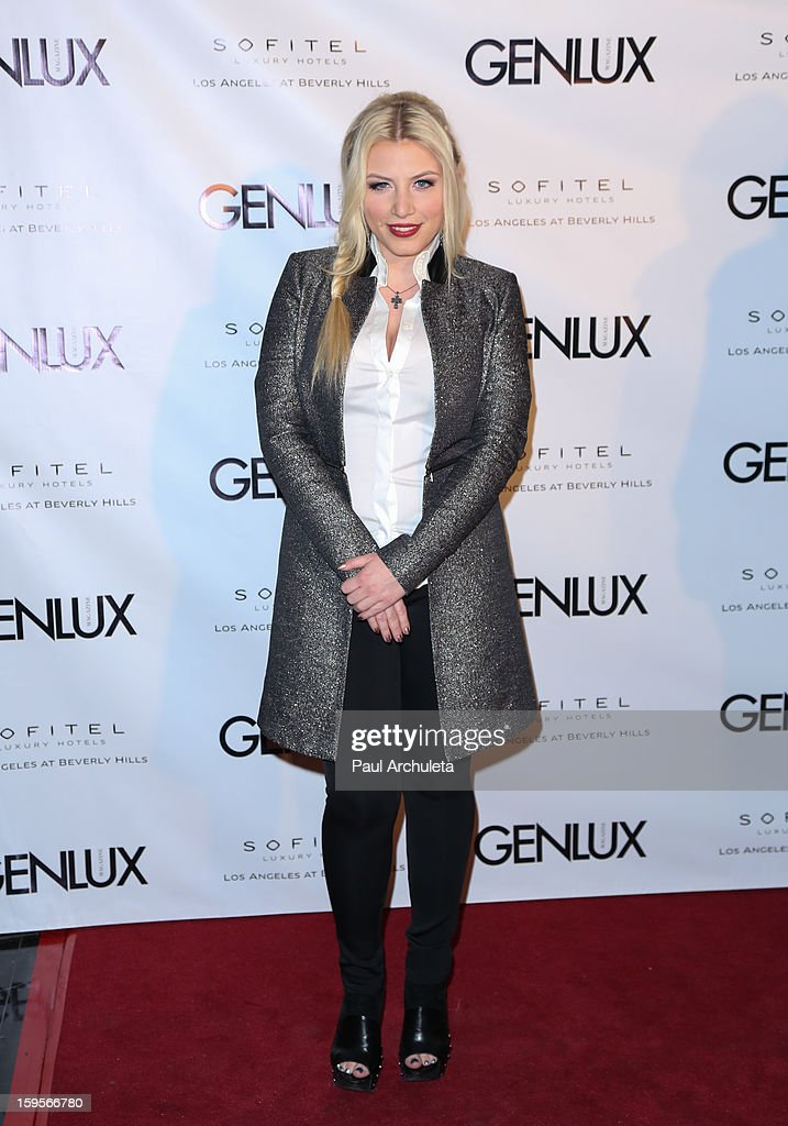 Recording Artist Grace Vallerie attends the opening of the new bar Riviera 31 at the Sofitel L.A. Hotel on January 15, 2013 in Beverly Hills, California.