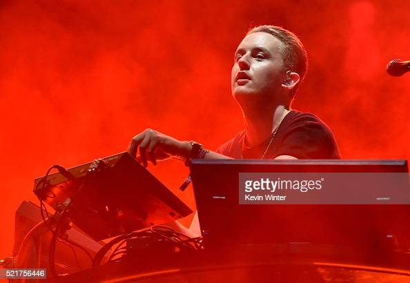 Recording artist Guy Lawrence of Disclosure performs onstage during day 2 of the 2016 Coachella Valley Music Arts Festival Weekend 1 at the Empire...
