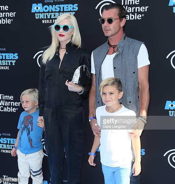 Recording artist Gwen Stefani husband recording artist Gavin Rossdale and their children Zuma Nesta Rock Rossdale and Kingston James McGregor...