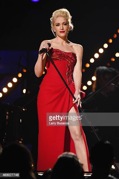 Recording Artist Gwen Stefani performs at The 57th Annual GRAMMY Awards at the STAPLES Center on February 8 2015 in Los Angeles California