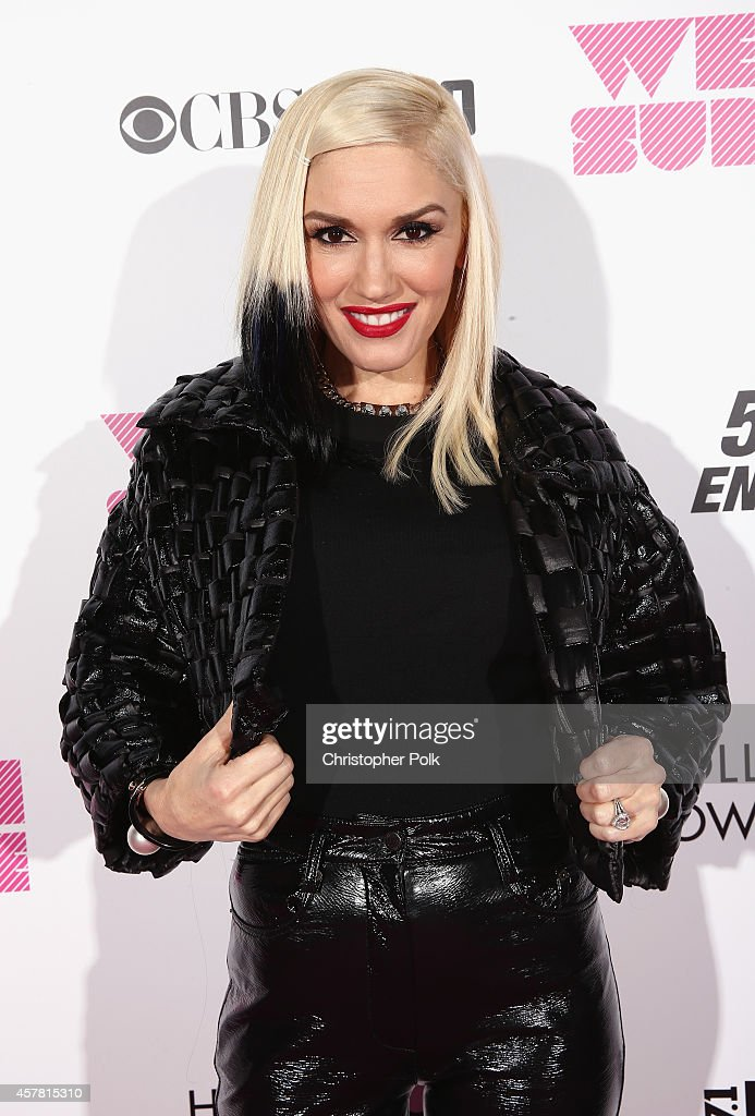 Recording artist Gwen Stefani poses backstage during CBS Radio's We Can Survive at the Hollywood Bowl on October 24 2014 in Los Angeles California