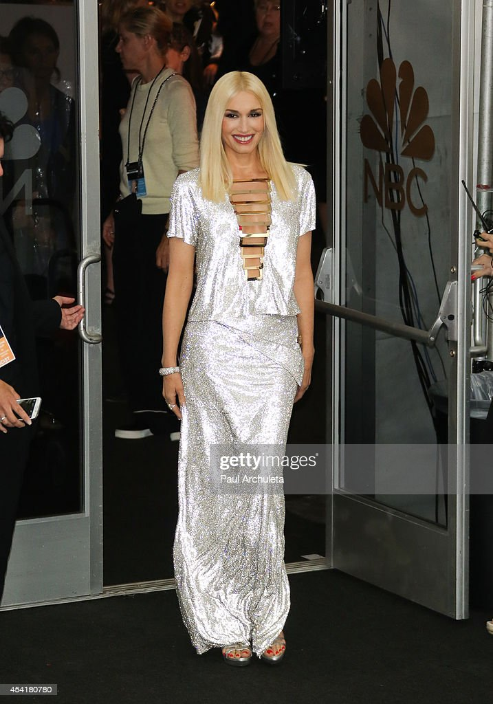 Recording Artist Gwen Stefani poses for photos in the press room at the 66th annual Primetime Emmy Awards at Nokia Theatre L.A. Live on August 25, 2014 in Los Angeles, California.