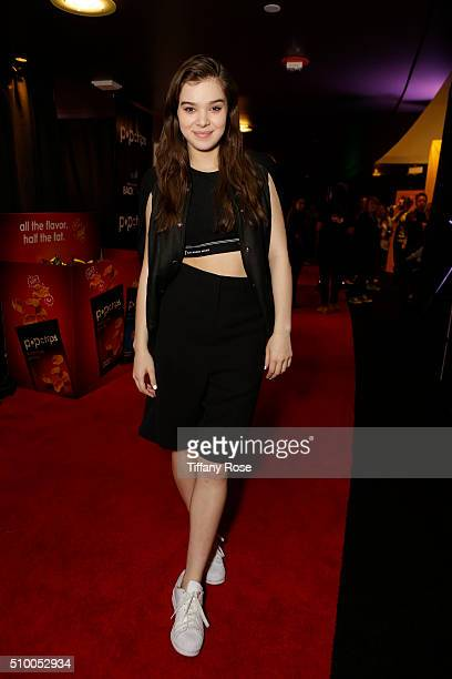 Recording Artist Hailee Steinfield attends popchips and Westwood One's Backstage at The GRAMMYS at Staples Center on February 12 2016 in Los Angeles...