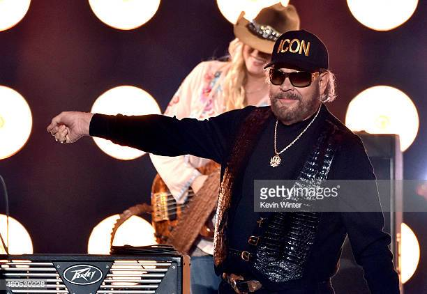 Recording artist Hank Williams Jr performs onstage during the 2014 American Country Countdown Awards at Music City Center on December 15 2014 in...