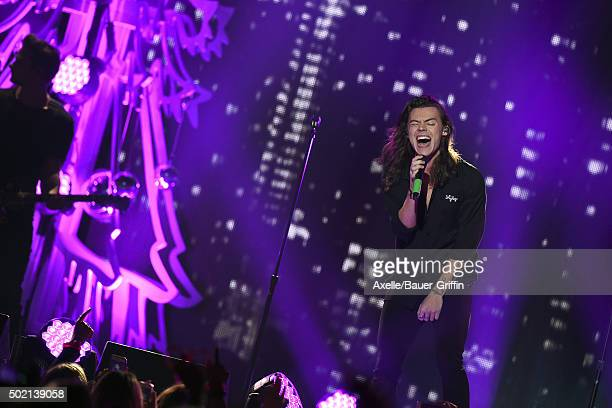Recording artist Harry Styles of One Direction performs at 1027 KIIS FM's Jingle Ball 2015 presented by Capital One at Staples Center on December 4...