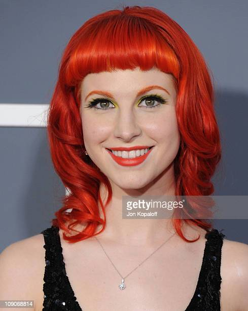 Recording artist Hayley Williams of Paramore arrives at The 53rd Annual GRAMMY Awards at Staples Center on February 13 2011 in Los Angeles California