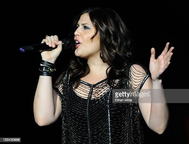 Recording artist Hillary Scott of Lady Antebellum performs at The Joint inside the Hard Rock Hotel Casino as the group tours in support of the new...