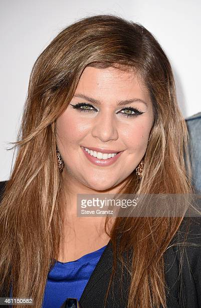 Recording artist Hillary Scott of music group Lady Antebellum poses in the press room at the 41st Annual People's Choice Awards at Nokia Theatre LA...