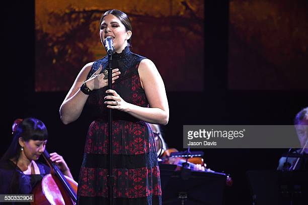 Recording Artist Hillary Scott performs during the 3rd Annual GMA Honors on May 10 2016 in Nashville Tennessee