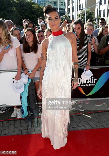 Recording artist Hollie Smith arrives at the New Zealand Music Awards at Vector Arena on November 21 2013 in Auckland New Zealand