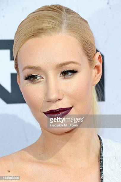 Recording artist Iggy Azalea attends the iHeartRadio Music Awards at The Forum on April 3 2016 in Inglewood California