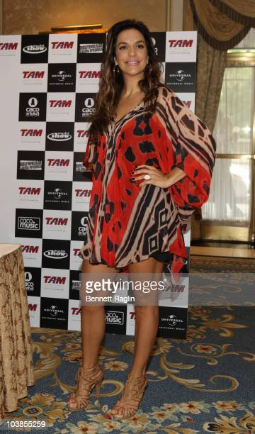 Recording artist Ivete Sangalo attends the 'Multishow LiveIvete Sangalo at Madison Square Garden' Press Conference held at the Jumeirah Essex House...