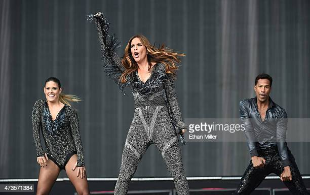 Recording artist Ivete Sangalo performs with dancers during Rock in Rio USA at the MGM Resorts Festival Grounds on May 15 2015 in Las Vegas Nevada