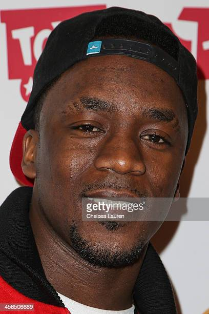 Recording artist Iyaz arrives at Elizabeth Stanton's 18th birthday benefiting Toys for Tots at Belasco Theatre on December 13 2013 in Los Angeles...