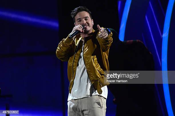 Recording artist J Balvin peforms onstage during the 16th Latin GRAMMY Awards at the MGM Grand Garden Arena on November 19 2015 in Las Vegas Nevada