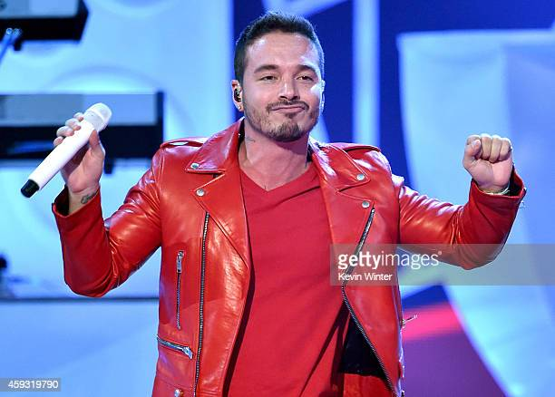 Recording artist J Balvin performs onstage during the 15th annual Latin GRAMMY Awards at the MGM Grand Garden Arena on November 20 2014 in Las Vegas...