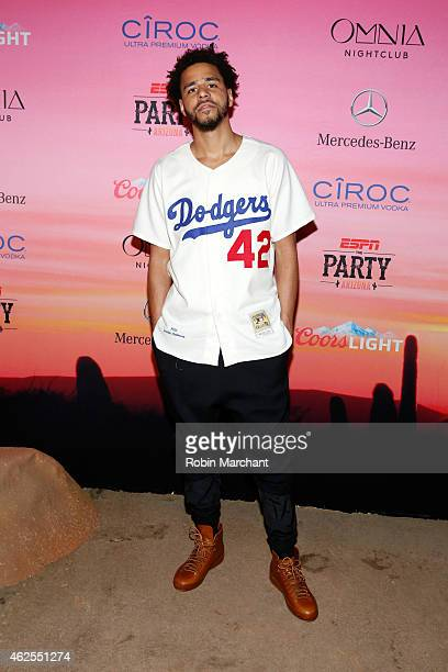 Recording artist J Cole attends ESPN the Party at WestWorld of Scottsdale on January 30 2015 in Scottsdale Arizona