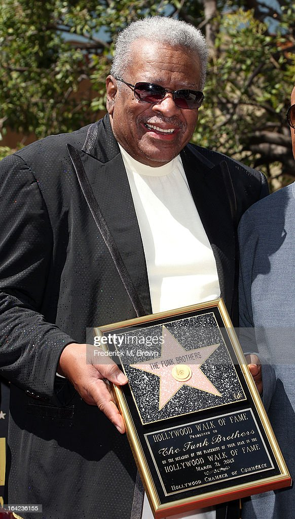 Recording artist Jack Ashford during the ceremony honoring The Funk Brothers on The Hollywood Walk Of Fame on March 21, 2013 in Hollywood, California.