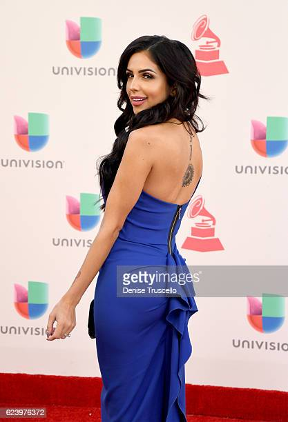 Recording artist Jackie Hernandez attends The 17th Annual Latin Grammy Awards at TMobile Arena on November 17 2016 in Las Vegas Nevada