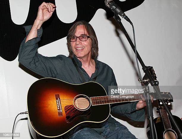 Recording artist Jackson Browne attends the 2011 NAMM Show Day 2 at the Anaheim Convention Center on January 13 2011 in Anaheim California