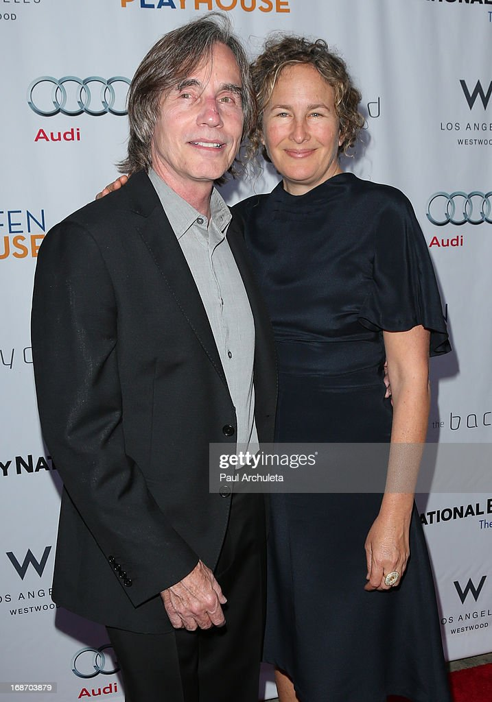 Recording Artist Jackson Browne (L) attends the Geffen annual fundraiser at the Geffen Playhouse on May 13, 2013 in Los Angeles, California.