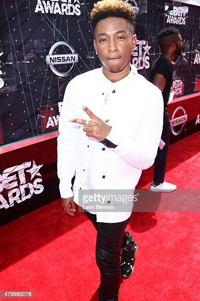 Recording artist Jacob Latimore arrived at the BET Make A Wish Foundation Recipients BET Experience At LA Live Red Carpet arrivals Weekend Events on...