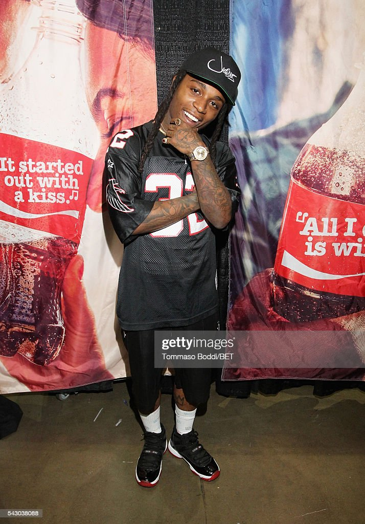 Recording artist Jacquees attends the Coke music studio during the 2016 BET Experience on June 25, 2016 in Los Angeles, California.