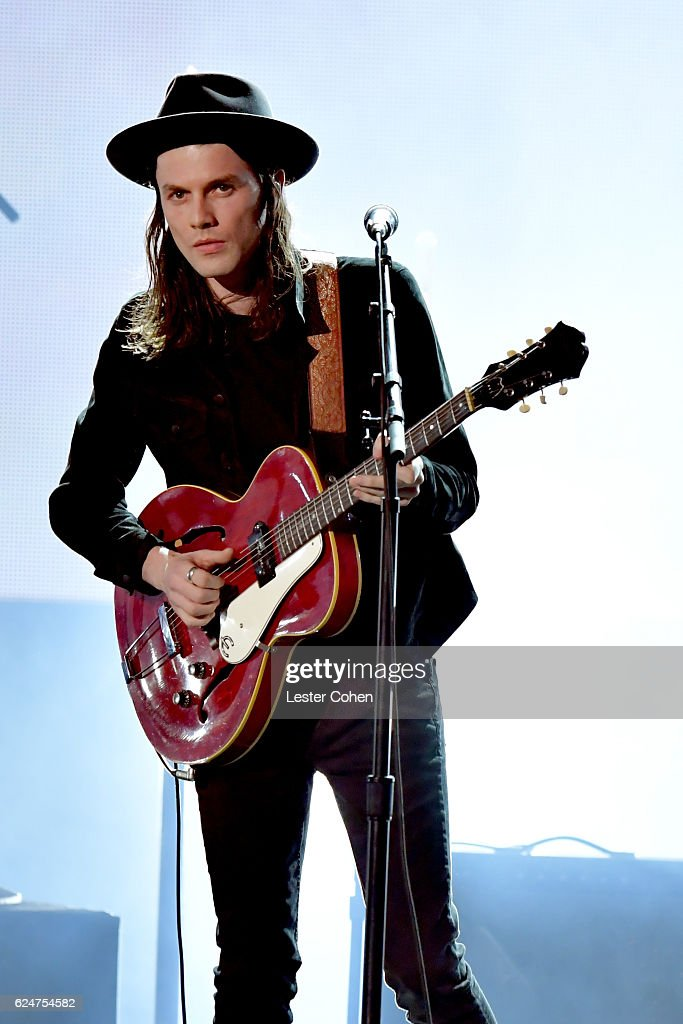 Recording artist James Bay performs onstage at the 2016 American Music Awards at Microsoft Theater on November 20, 2016 in Los Angeles, California.
