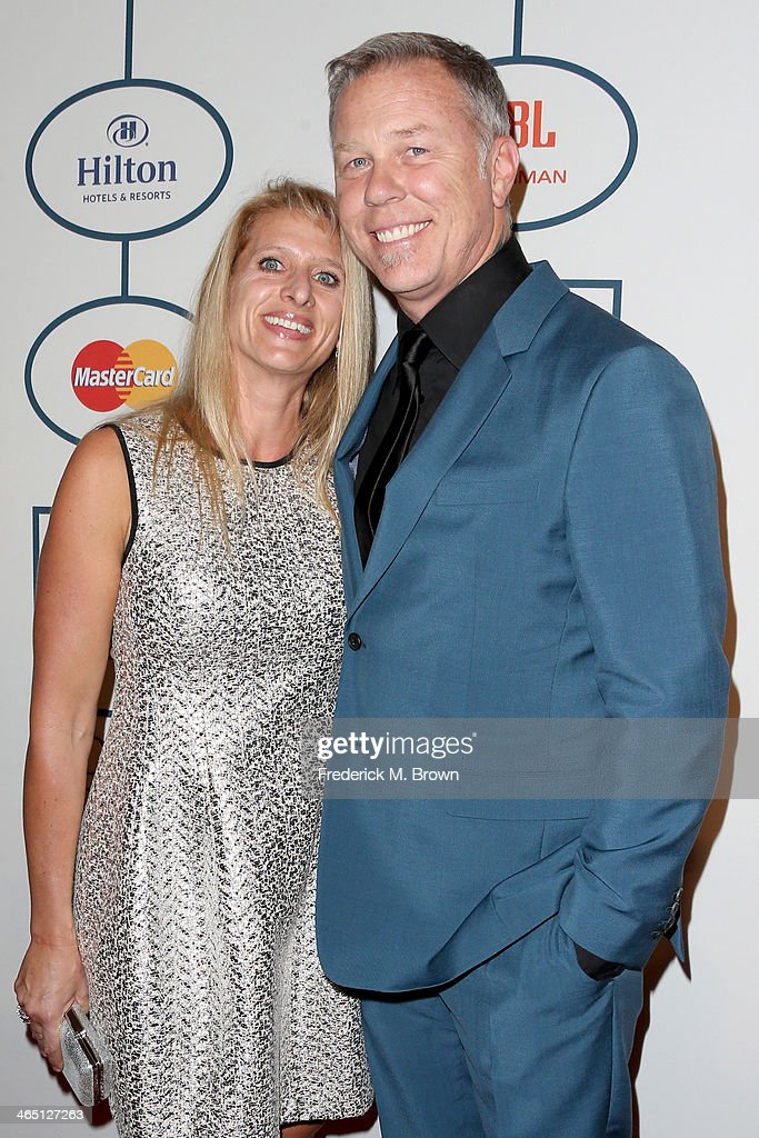 Recording artist James Hetfield of Metallica (R) and Francesca Hetfield attend the 56th annual GRAMMY Awards Pre-GRAMMY Gala and Salute to Industry Icons honoring Lucian Grainge at The Beverly Hilton on January 25, 2014 in Beverly Hills, California.