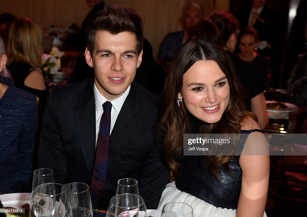 Recording artist James Righton and actress Keira Knightley attend The Weinstein Company's Academy Awards Nominees Dinner in partnership with Chopard...
