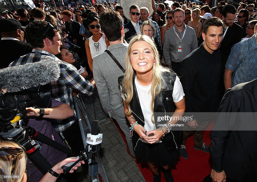 Recording artist Jamie McDell arrives at the New Zealand Music Awards at Vector Arena on November 21, 2013 in Auckland, New Zealand.
