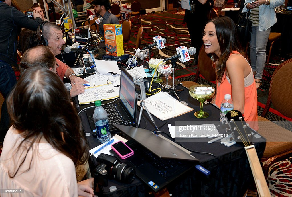 Recording artist <a gi-track='captionPersonalityLinkClicked' href=/galleries/search?phrase=Jana+Kramer&family=editorial&specificpeople=569861 ng-click='$event.stopPropagation()'>Jana Kramer</a> attends the Dial Global Radio Remotes during The 48th Annual Academy of Country Music Awards at the MGM Grand on April 5, 2013 in Las Vegas, Nevada.