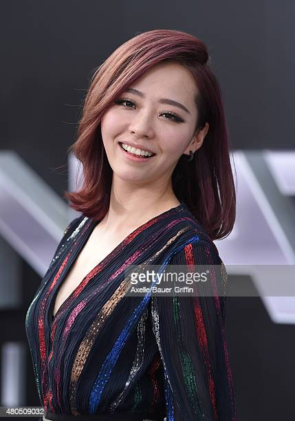 Recording artist Jane Zhang arrives at the Los Angeles premiere of 'Terminator Genisys' at Dolby Theatre on June 28 2015 in Hollywood California