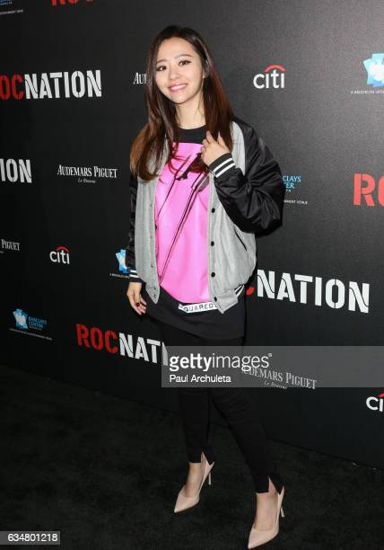 Recording Artist Jane Zhang attnds the Roc Nation preGRAMMY Brunch on February 11 2017 in Los Angeles California