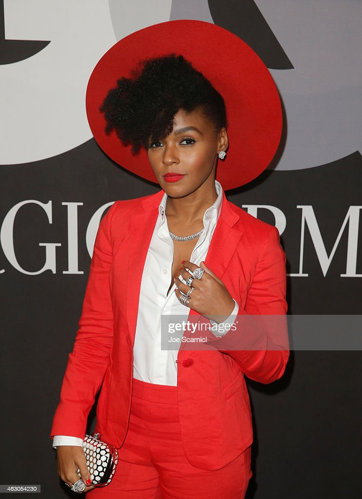 Recording artist Janelle Monae attends GQ and Giorgio Armani Grammys After Party at Hollywood Athletic Club on February 8, 2015 in Hollywood, California.