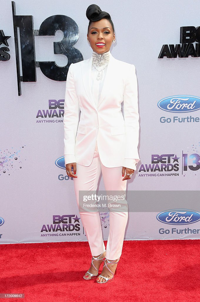 Recording artist Janelle Monae attends the 2013 BET Awards at Nokia Theatre LA Live on June 30 2013 in Los Angeles California