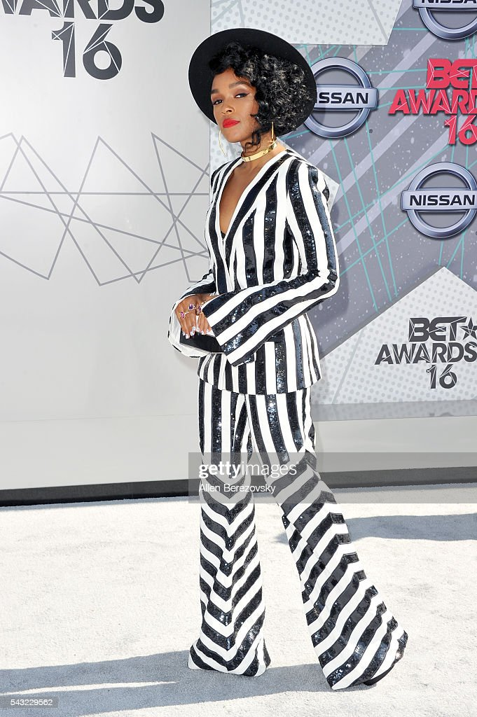 Recording artist <a gi-track='captionPersonalityLinkClicked' href=/galleries/search?phrase=Janelle+Monae&family=editorial&specificpeople=715847 ng-click='$event.stopPropagation()'>Janelle Monae</a> attends the 2016 BET Awards at Microsoft Theater on June 26, 2016 in Los Angeles, California.