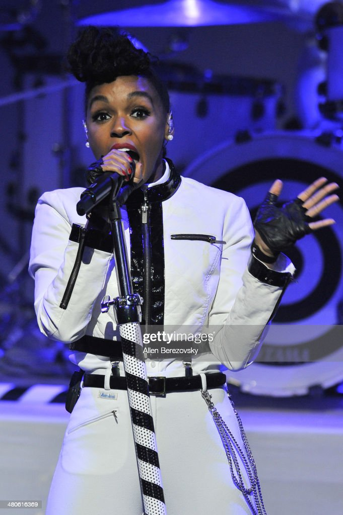 Recording artist Janelle Monae performs during the Clear Channel's iHeartRadio Live Series Concert at iHeartRadio Theater on March 25, 2014 in Burbank, California.